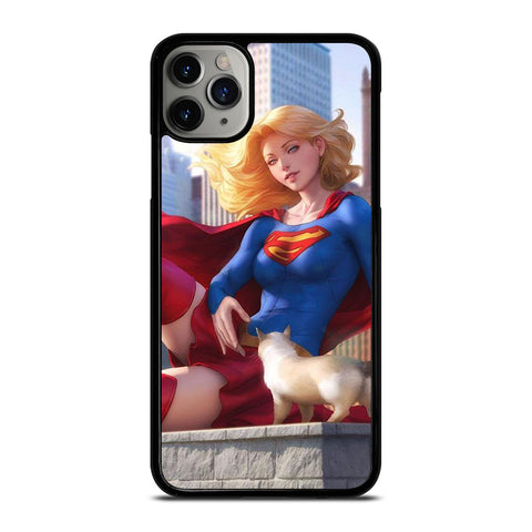 SUPERGIRL  DC CARTOON iPhone 11 Pro Max Case Cover