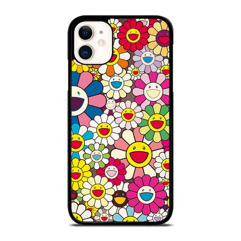 TAKASHI MURAKAMI FLOWERS COLLAGE iPhone 11 Case Cover