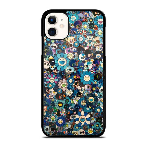 TAKASHI MURAKAMI FLOWERS SKULL iPhone 11 Case Cover