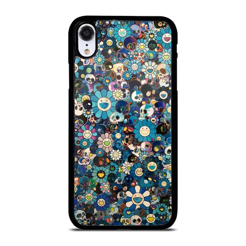 TAKASHI MURAKAMI FLOWERS SKULL iPhone XR Case Cover