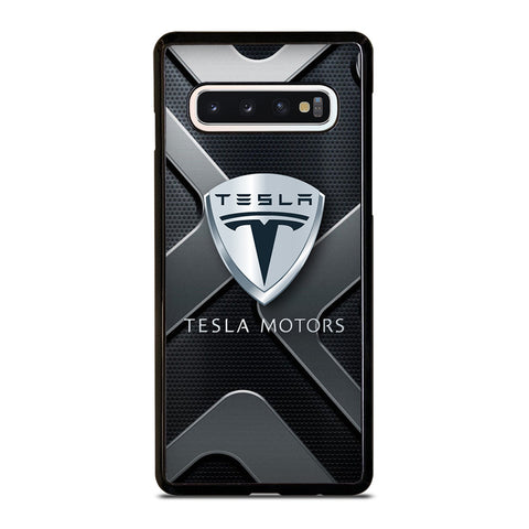 TESLA MOTOR CAR ICON Samsung Galaxy S10 Case Cover