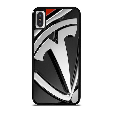TESLA MOTOR EMBLEM LOGO iPhone X / XS Case Cover