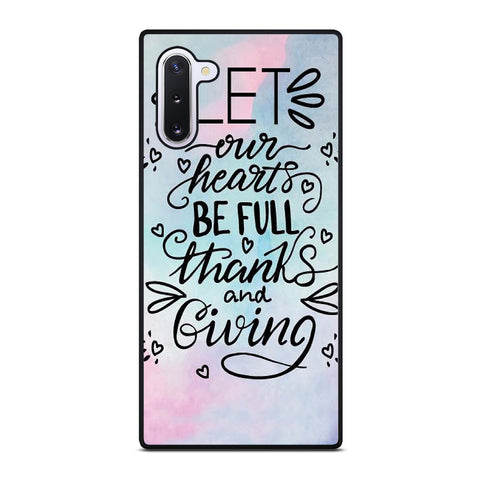 THANKS AND GIVING QUOTE Samsung Galaxy Note 10 Case Cover