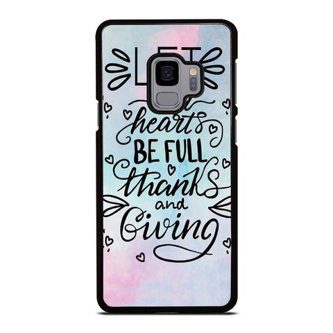 THANKS AND GIVING QUOTE Samsung Galaxy S9 Case Cover