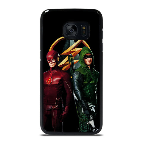 THE FLASH VS GREEN ARROW DC Samsung Galaxy S7 Edge Case Cover