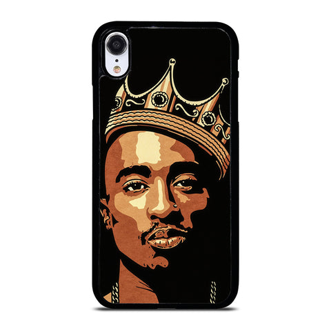 THE KING TUPAC SHAKUR ART iPhone XR Case Cover