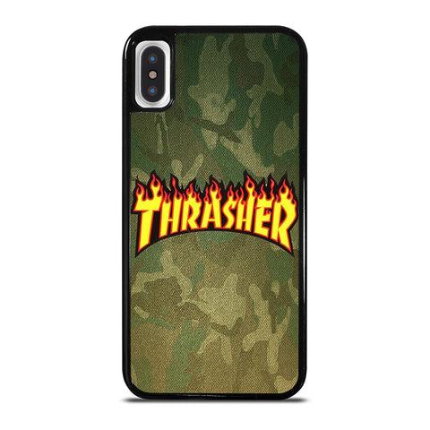THRASHER LOGO CAMO FABRIC iPhone X / XS Case Cover