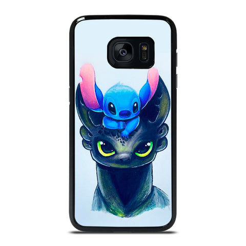 TOOTHLESS AND STITCH ART Samsung Galaxy S7 Edge Case Cover