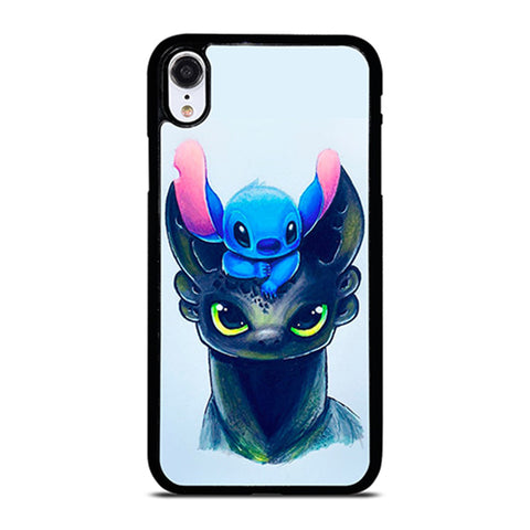 TOOTHLESS AND STITCH ART iPhone XR Case Cover
