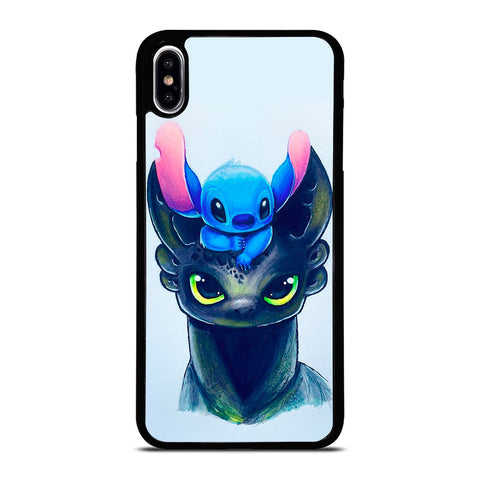 TOOTHLESS AND STITCH ART iPhone XS Max Case Cover