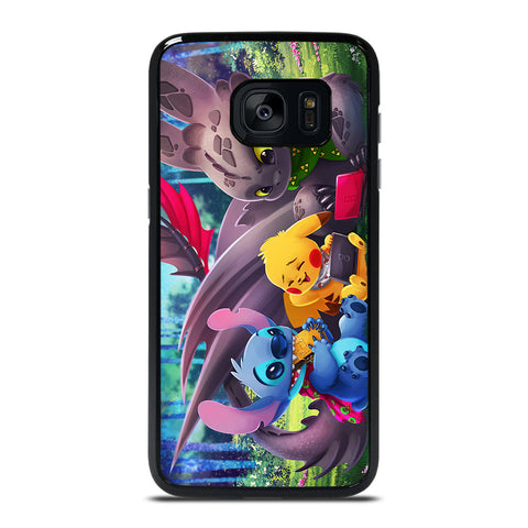 TOOTHLESS STITCH PIKACHU Samsung Galaxy S7 Edge Case Cover