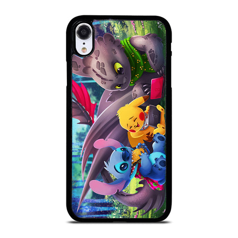 TOOTHLESS STITCH PIKACHU iPhone XR Case Cover
