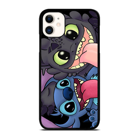 TOOTHLESS AND STITCH CARTOON iPhone 11 Case Cover