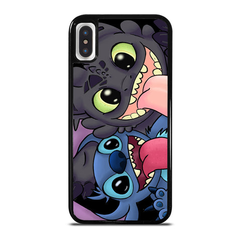 TOOTHLESS AND STITCH CARTOON iPhone X / XS Case Cover