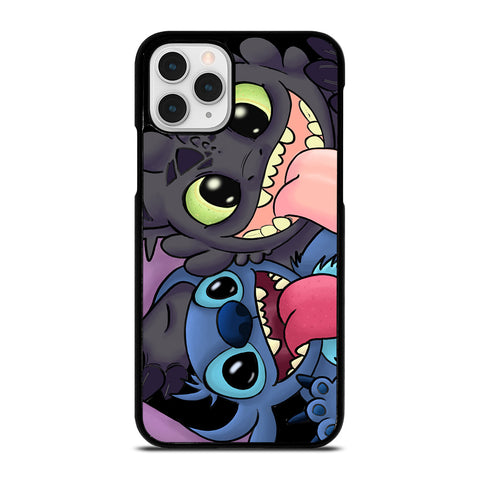 TOOTHLESS AND STITCH CARTOON iPhone 11 Pro Case Cover