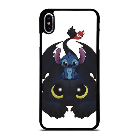 TOOTHLESS AND STITCH CUTE iPhone XS Max Case Cover