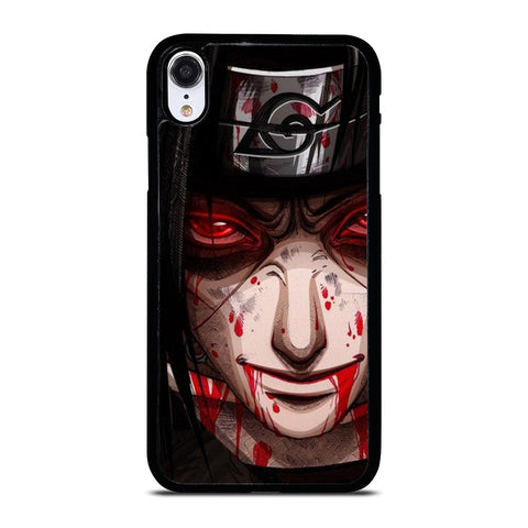 UCHIHA ITACHI NARUTO BLOOD FACE iPhone XR Case Cover