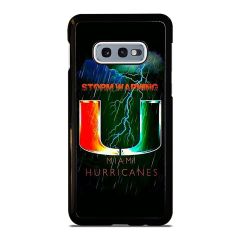 UM MIAMI HURRICANES NFL Samsung Galaxy S10e Case Cover
