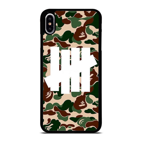 UNDEFEATED BAPE CAMO iPhone XS Max Case Cover