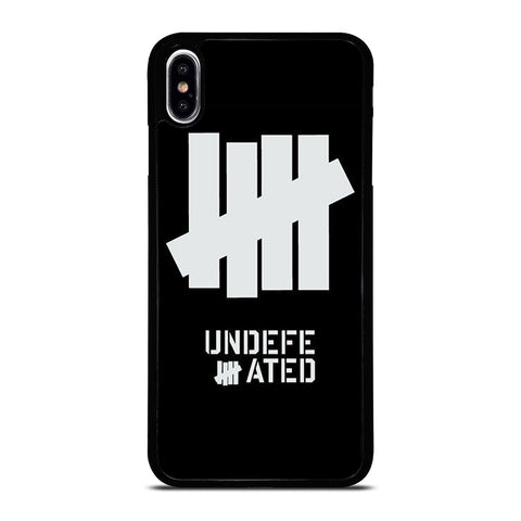 UNDEFEATED BLACK LOGO iPhone XS Max Case Cover