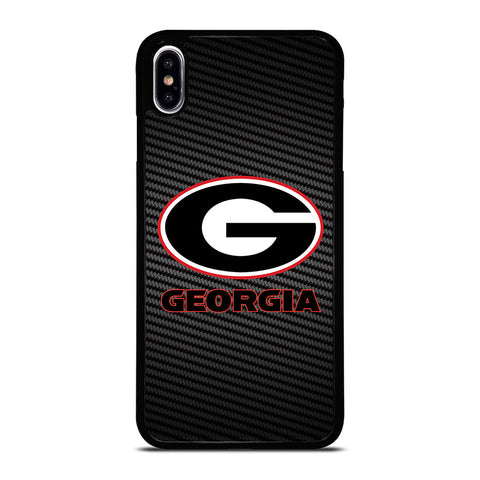 UNIVERSITY GEORGIA CARBON SYMBOL iPhone XS Max Case Cover