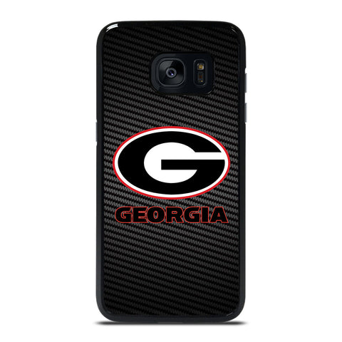 UNIVERSITY GEORGIA CARBON SYMBOL Samsung Galaxy S7 Edge Case Cover