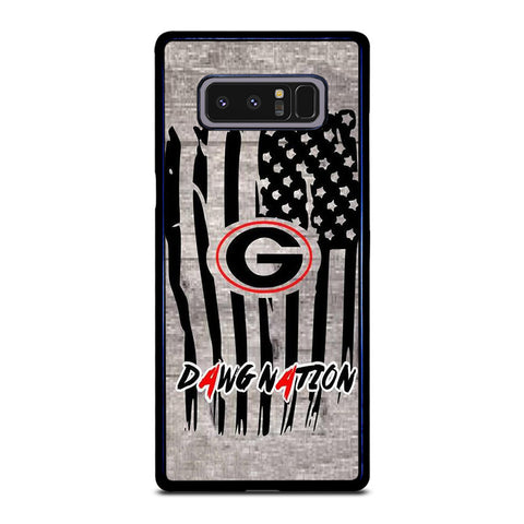 UNIVERSITY OF GEORGIA BULLDOGSWOODEN LOGO Samsung Galaxy Note 8 Case Cover