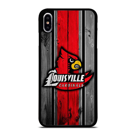 UNIVERSITY OF LOUISVILLE  WOODEN LOGO iPhone XS Max Case Cover