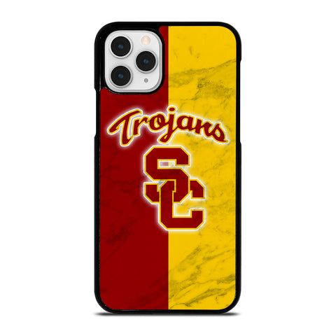 USC TROJANS LOGO MARBLE iPhone 11 Pro Case Cover