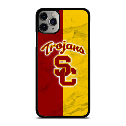 USC TROJANS LOGO MARBLE iPhone 11 Pro Max Case Cover