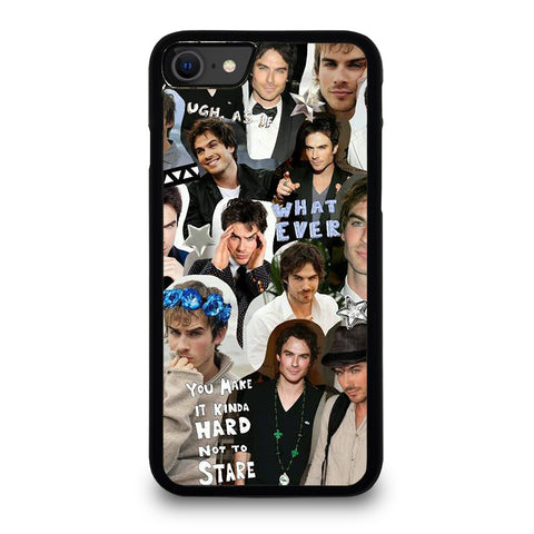 VAMPIRE DIARIES IAN SOMERHALDER COLLAGE iPhone SE 2020 Case Cover