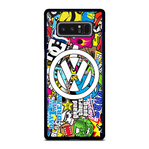 VW STICKER BOMB LOGO Samsung Galaxy Note 8 Case Cover