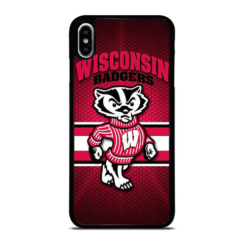 WISCONSIN BADGER FOOTBALL LOGO 2 iPhone XS Max Case Cover