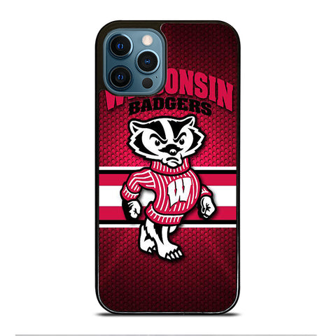 WISCONSIN BADGER FOOTBALL LOGO 2 iPhone 12 Pro Max Case Cover