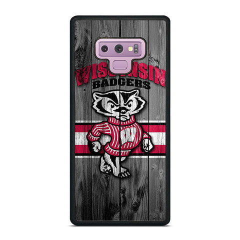 WISCONSIN BADGER WOODEN LOGO Samsung Galaxy Note 9 Case Cover
