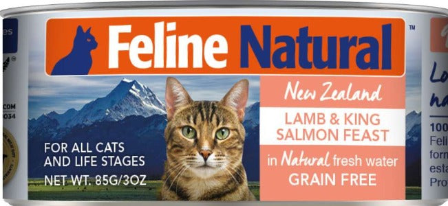 Feline Natural Canned Lamb & King Salmon