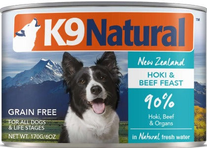 K9 Natural Canned Hoki & Beef Feast