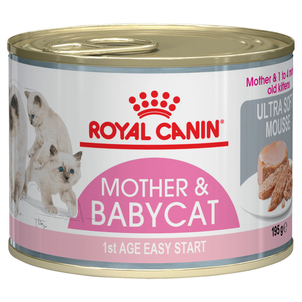 Royal Canin Babycat Ultra Soft Mousse - tray of 12 cans
