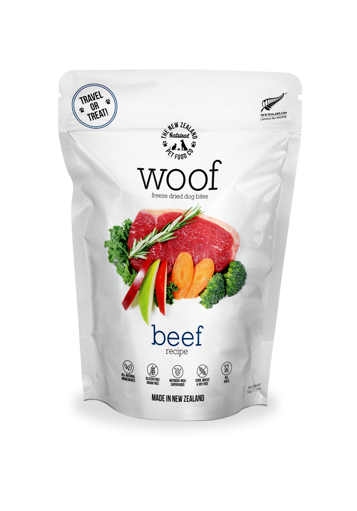 Woof Freeze Dried Dog Bites 50g - Beef