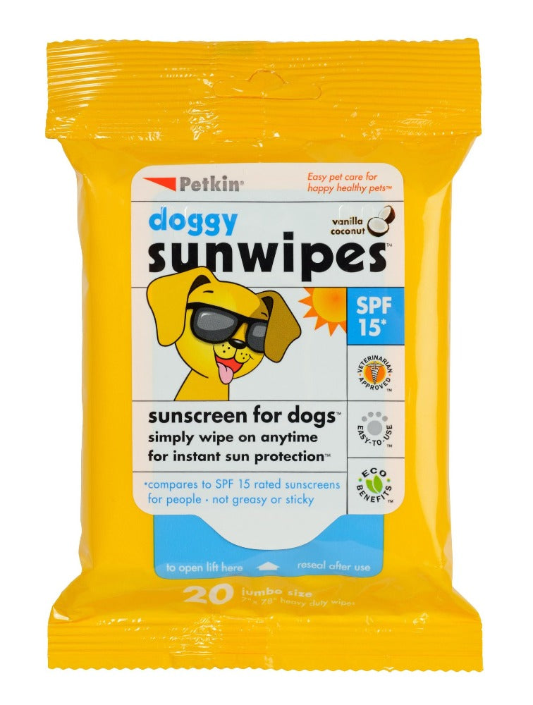 Petkin Doggy Sunscreen Wipes