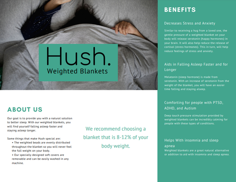 Hush Blankets Weighted Blanket benefits for health