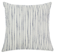 TEXTURED DOT STRIPE- FEATHER FILL PILLOW