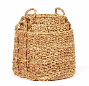 SQUARE SEAGRASS STORAGE BASKETS