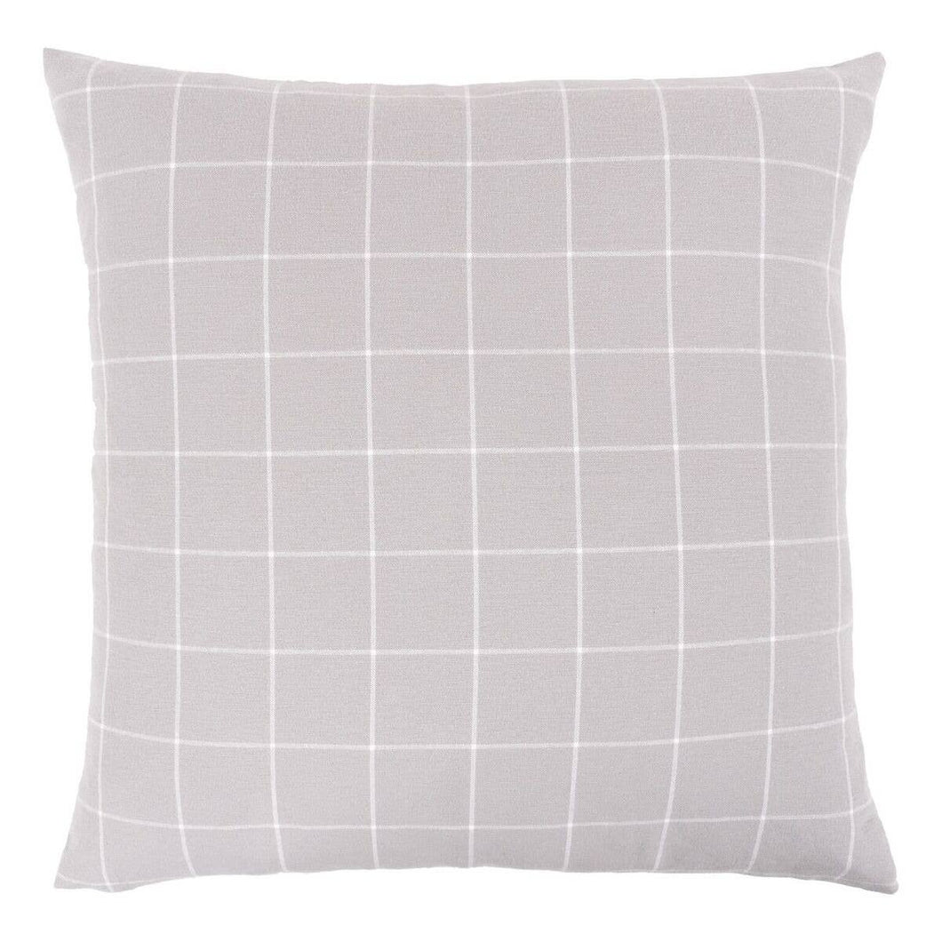 QUIET GREY- FEATHER FILL PILLOW