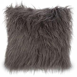 BROWN LONG FUR CUSHION