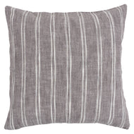 INVERSE STRIPE- GREY- FEATHER FILL PILLOW