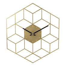 Load image into Gallery viewer, Gold Geometric Wall Clock