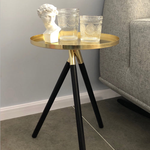 Gold and Black Coffee Table