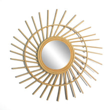 Load image into Gallery viewer, Serena Round Rattan Mirror