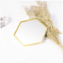 Load image into Gallery viewer, Hexagon Mirror with Gold Frame